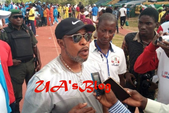 Delta State Governor`s Younger Brother Tony Okowa Attends National Sports Festival With Over 20 Bodyguards To Beat Journalists