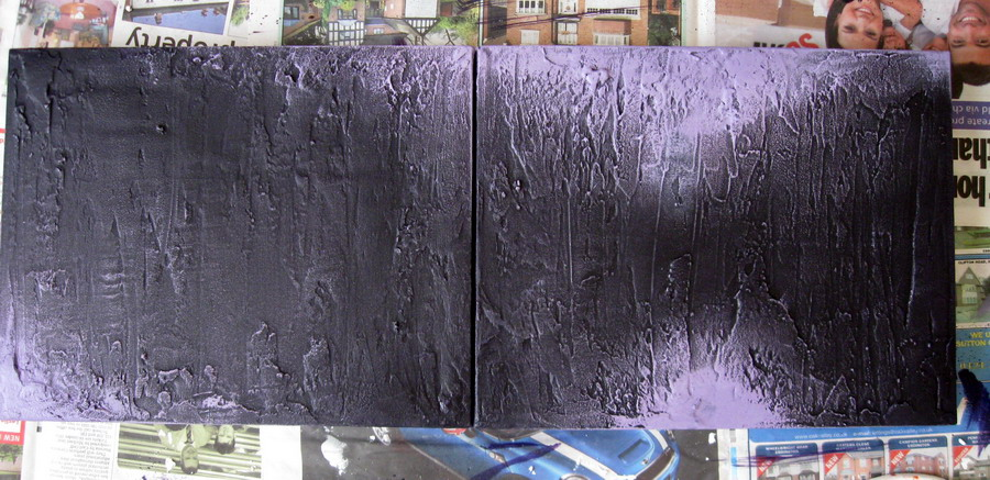 Stage 4crimson Red Is Added Using Dry Brushing Again Blending It Into The Violet Background