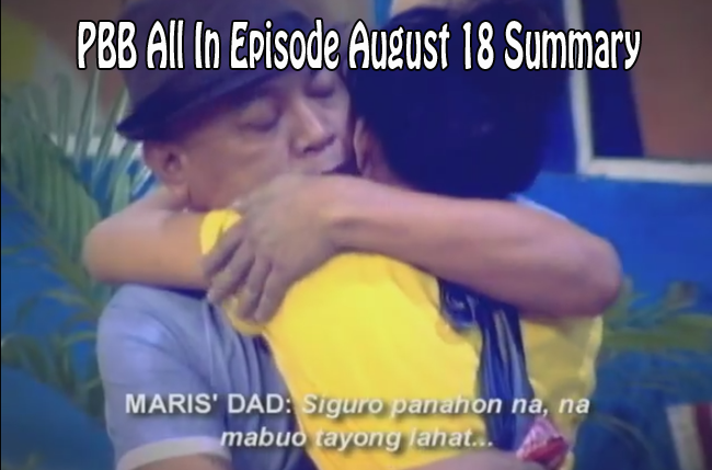 Pinoy Big Brother Update: PBB All In Episode August 18, 2014 Summary