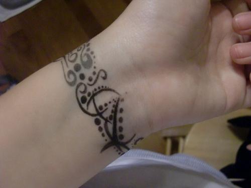 Mehndi Tattoos For Wrist : Latest mehndi tattoo designs for wrist images
