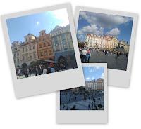 Polaroids prises à Prague en République Tchèque de plusieurs lieux à visiter