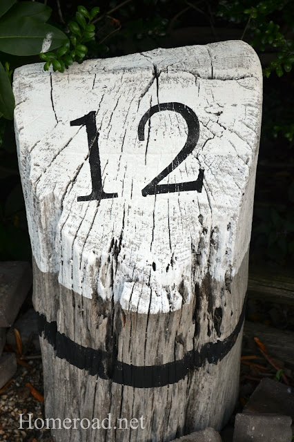 black and white buoy house number