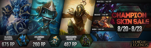 Surrender At 20: New Champion And Skin Sale 8/20