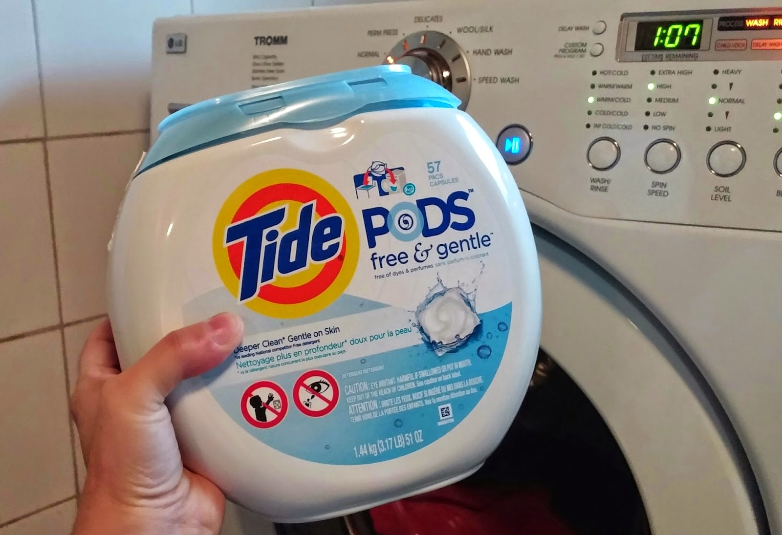 Before Tossing A Load Of Laundry In My Front Loading High Efficiency Lg Washer I Placed Pod Tide Free Gentle After Successful First Dark