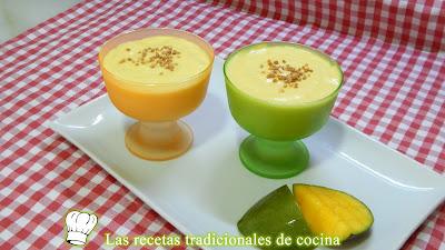 Receta fácil de crema de mango un postre delicioso