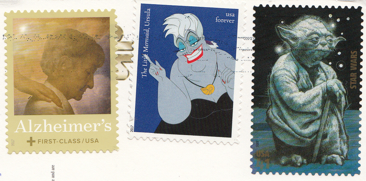 My Postcard And Stamp Week Usa Star Wars Stamp Cards