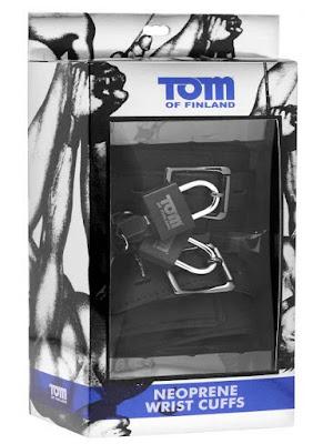Tom of Finland Wrist Cuffs Neoprene Black With Locks Gayrado Online Shop