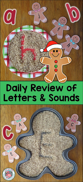 Enhance student engagement by using sensory writing trays to review letters and sounds.