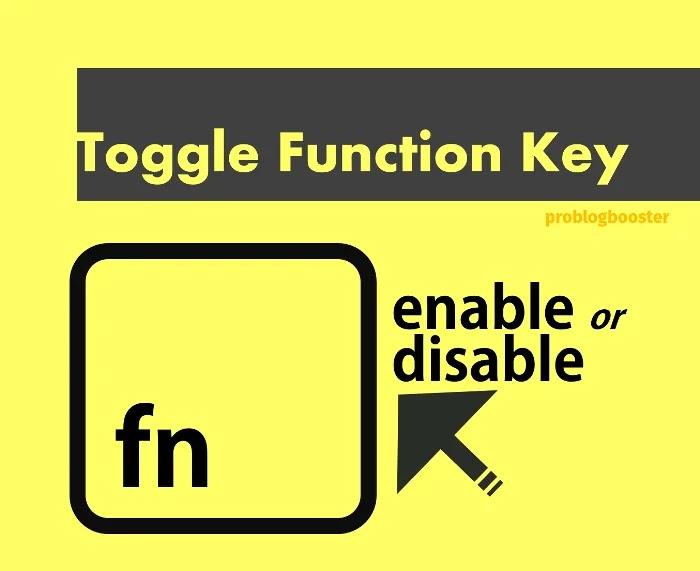 Toggle lock and unlock the Fn key