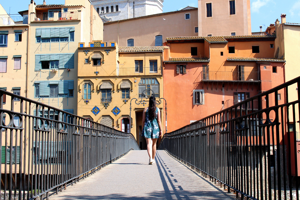 Bridge in Girona, Spain - travel & lifestyle blog