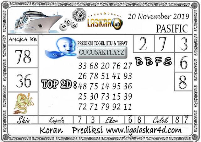 Prediksi Togel Jitu PASIFIC LASKAR4D 20  NOVEMBER 2019
