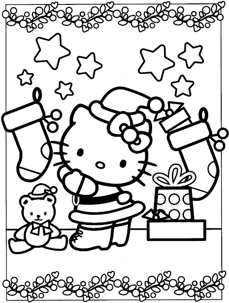 Free Hello Kitty Coloring Pages Image