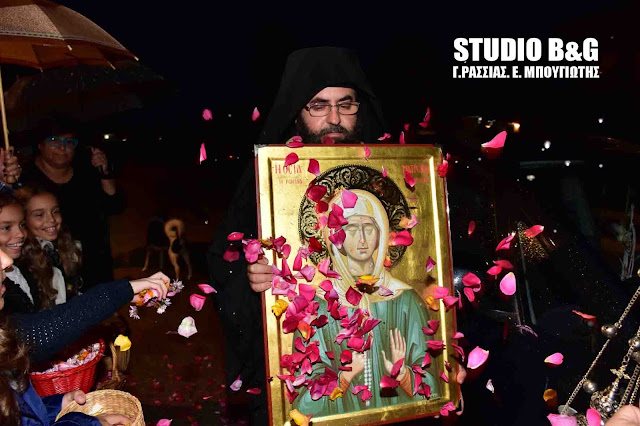Υποδοχή της Εικόνας της Αγίας Ματρώνας στην Πυργέλα (βίντεο)