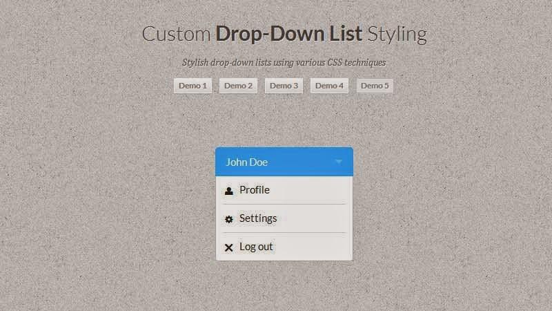 Custom Dropdown List Styles