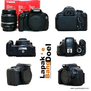 Canon 600 D kit lengkap