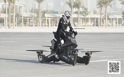 شرطة دبى تبدأ فى تدريب رجالها على الدراجات الطائره شاهد الفيديو