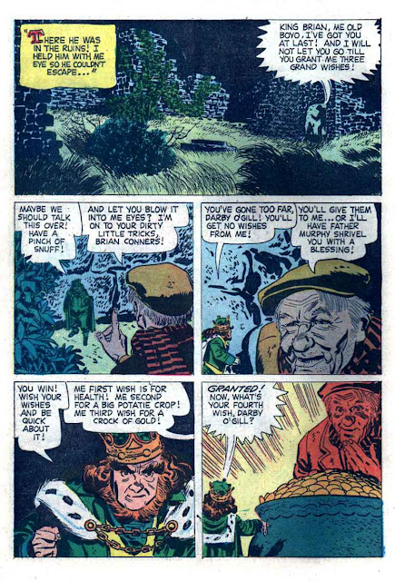 Darby O' Gill and the Little People / Four Color Comics #1024 dell comic book page art by Alex Toth