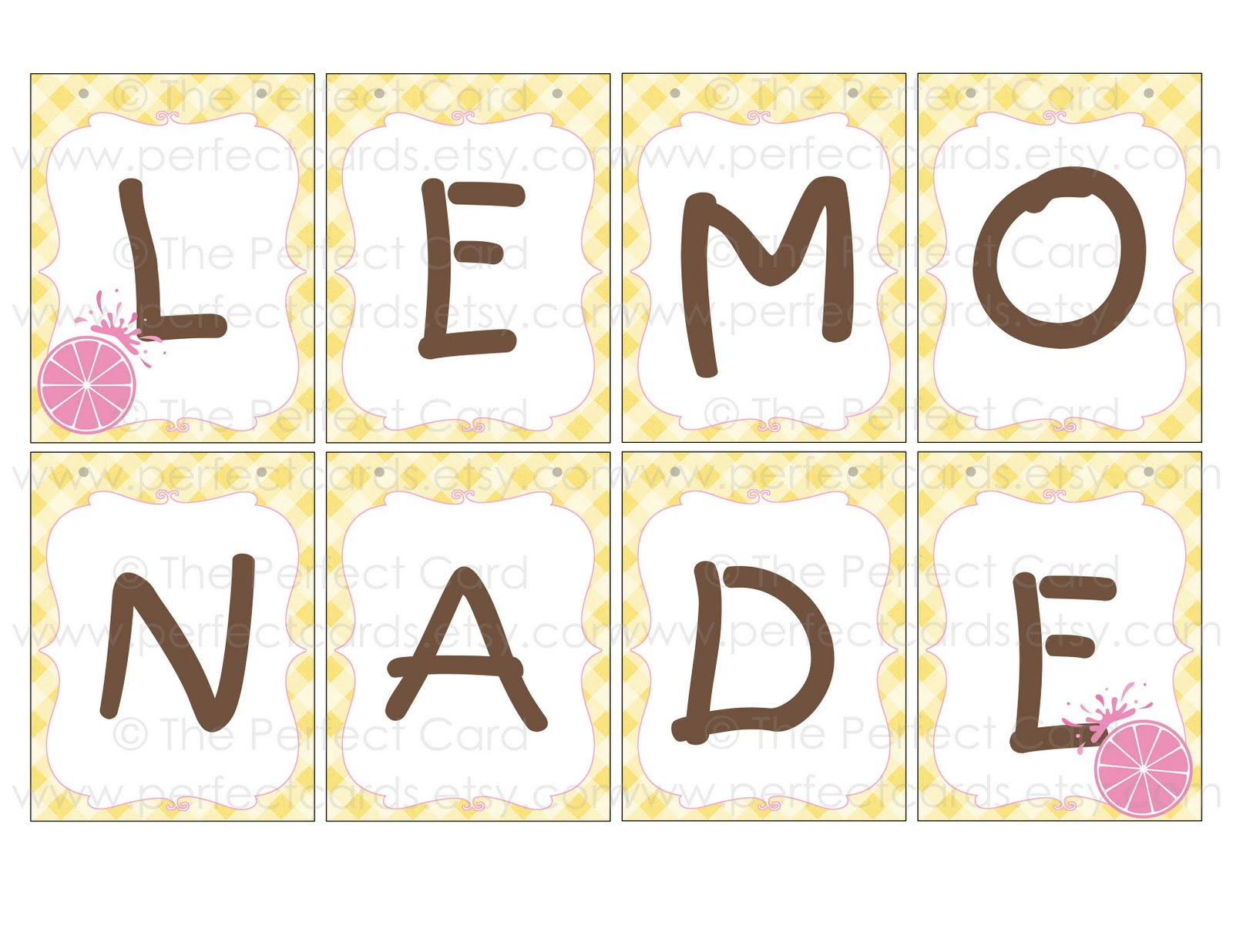 The Perfect Card Lemonade Stand Printable Set Giveaway