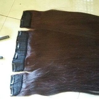 Hair Clip 80cm Tebal Free Smoothing Dan Cat Warna