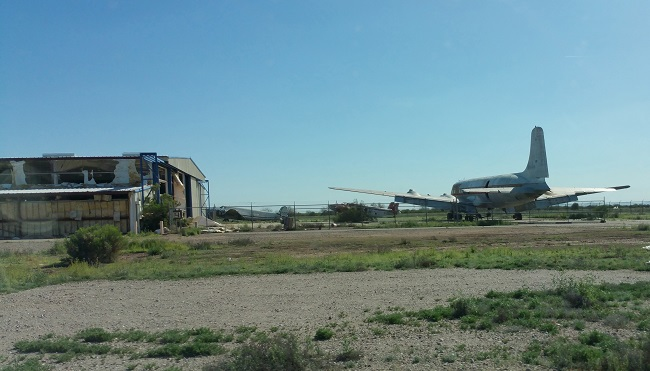 Abandoned Gila River Memorial Airport in Chandler AZ