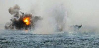 قصف بارجة سعودية