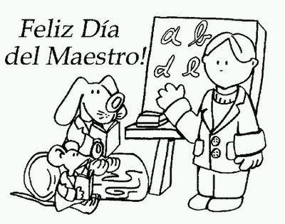 Dibujos del Dia del Maestro para Pintar, parte 1
