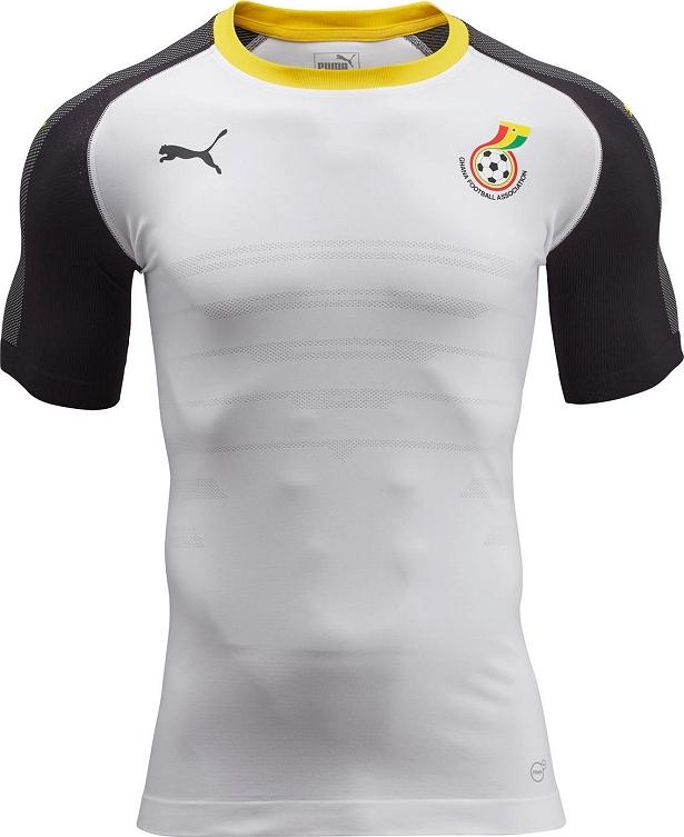 d5b7781282 Puma apresenta nova camisa titular de Gana - Show de Camisas