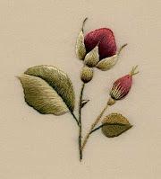 Burgundy Rosebuds: Trish Burr's original