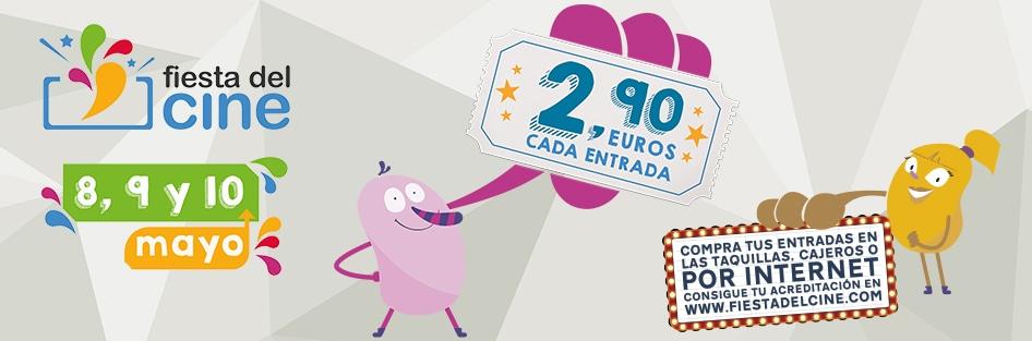 ¡Vuelva la fiesta del cine del 8 al 10 de mayo!, entradas a 2,90 euros