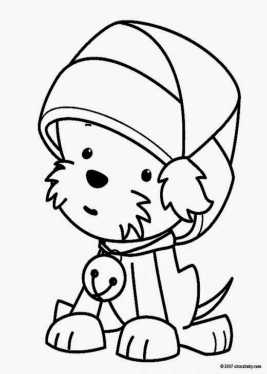 5 Christmas Puppy Coloring Pages Printable  Free Christmas