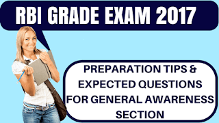 General Awareness Questions for RBI Grade B 2017