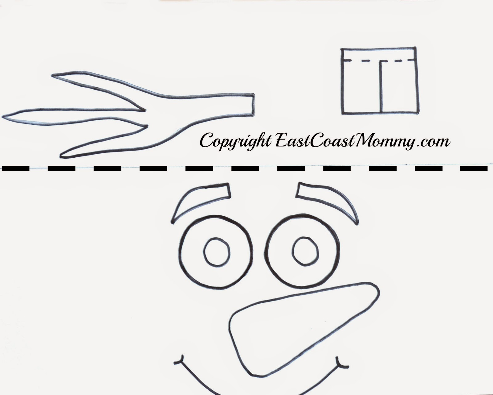 East coast mommy olaf hat free printable template 1 download a pdf version of the olaf hat i designed here and print it onto cardstock pronofoot35fo Gallery