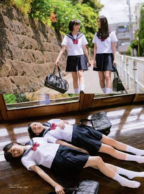 HKT48 Misaki Aramaki and Erena Sakamoto Entame Gravure Photos 06