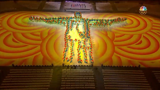 Rio 2016 Olympic Games Closing Ceremony Christ the Redeemer Jesus formation