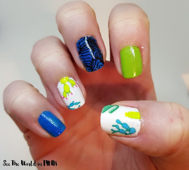 "Scratch Nail Wraps ""Lips, Eyes, Trippy Lines, and Cacti"""