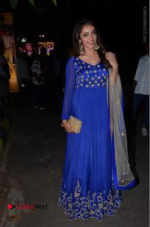 Telugu Actress Tejaswi Madivada Pos in Blue Long Dress at Nanna Nenu Na Boyfriends Audio Launch  0116.JPG