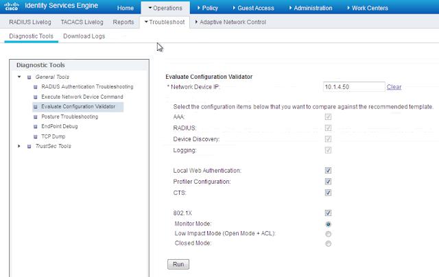 Troubleshooting ISE - configuration validation