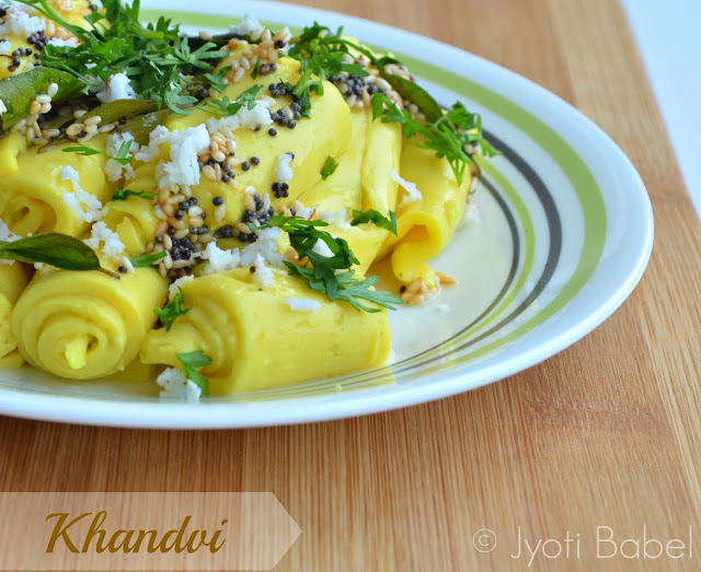 Khandvi is a healthy and gluten free Gujarati snack made primarily from besan and yogurt. Find the Khandvi recipe here
