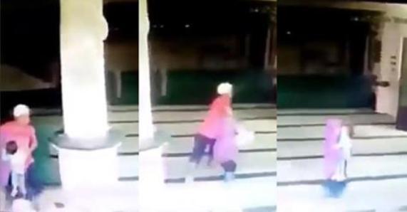 Aksi Penculikan Seorang Anak Di Masjid Terekam Kamera CCTV, Lihat Videonya!