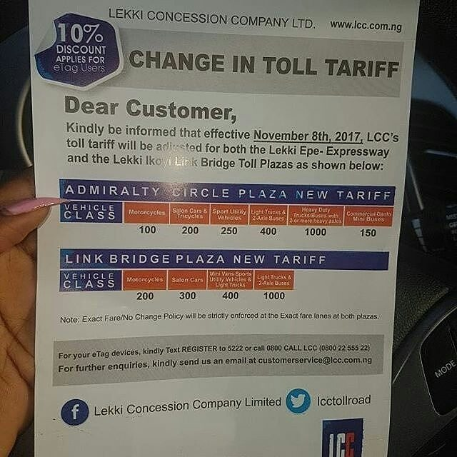 Lagos State puts a hold on proposed increase Toll Fares