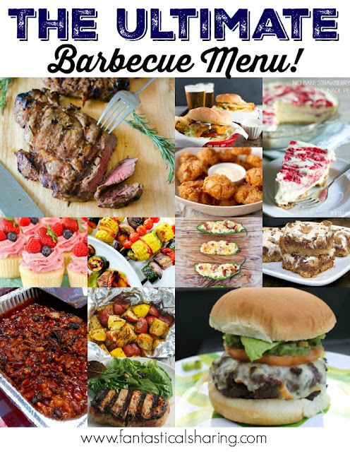 The Ultimate Barbecue Menu // Find the perfect recipes for your next cookout! #barbecue #recipe #food #cookout #grillout #grill