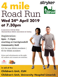 4 mile race in Carrigtwohill - Wed 24th Apr 2019