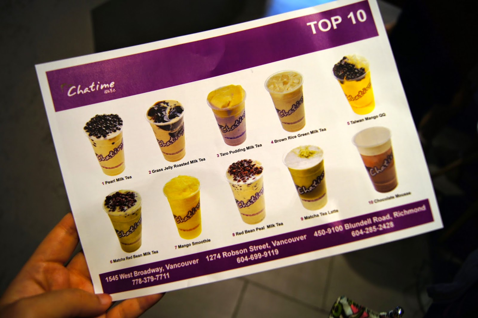 Mashed Thoughts: Good Tea, Good Time at Chatime Broadway