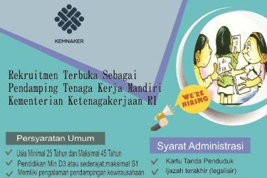 Rekrutmen Pendamping Tenaga Kerja  Kementerian Ketenagakerjaan Terbaru Tahun 2017
