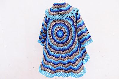 1 -Imagen abrigo redondo adulto Majovel Crochet ganchillo