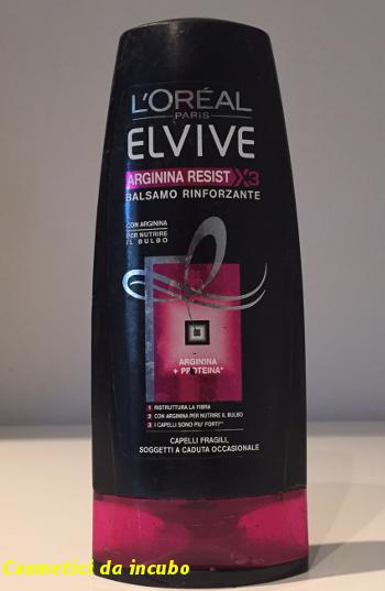Cosmetici Da Incubo  L oréal elvive arginina resist balsamo rinforzante 2ade379b6980