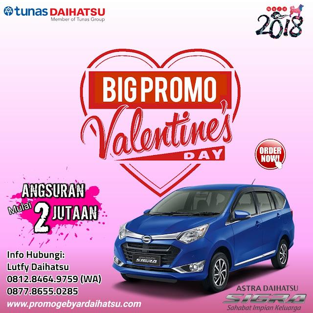 Promo Daihatsu Sigra Spesial Valentine 2018, Angsuran 2 Jutaan