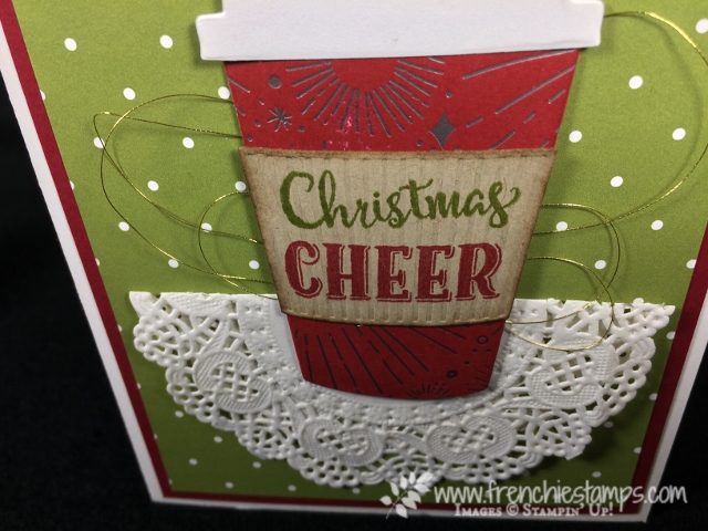 Merry Cade, Coffee Cup Framelits, Merry Little Christmas Designer Paper, Year of Cheer Designer Paper, Stampin'Up!, Frenchiestamps,