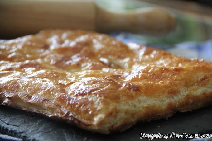 Empanada de bacon, champiñones y queso