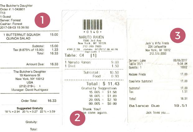 Las propinas en Nueva York, cuánto y cuándo dar ticket restaurante
